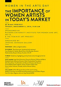 News: Women in the Arts Day | the Importance of Women Artists in Today's Market, December  5, 2014