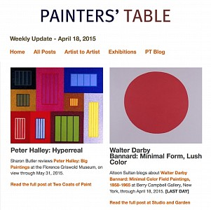 News: Review of Walter Darby Bannard , April 18, 2015 - Altoon Sultan via Painters Table