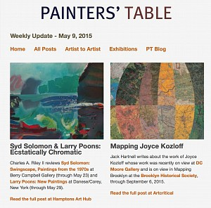 News: Painters' Table features Charles Riley review of Berry Campbell's Syd Solomon, May 10, 2015