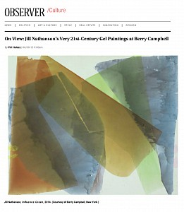 News: Jill Nathanson of Berry Campbell reviewed by Piri Halasz for the New York Observer, June  9, 2015 - Piri Halasz for New York Observer