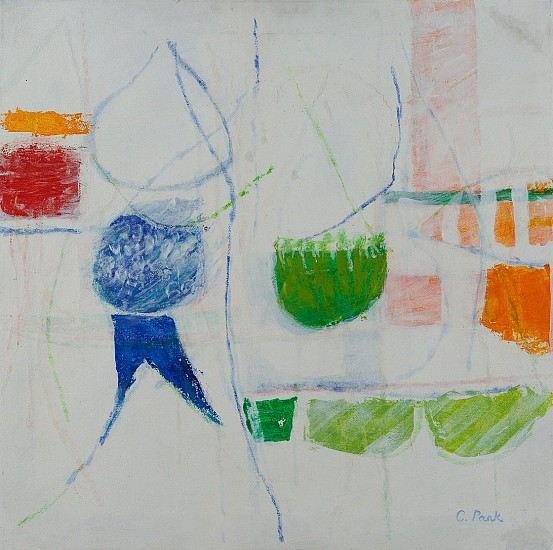 Charlotte Park ,   #4  ,  1984     Acrylic and oil crayon on canvas ,  22 x 22 in. (55.9 x 55.9 cm)     PAR-00132