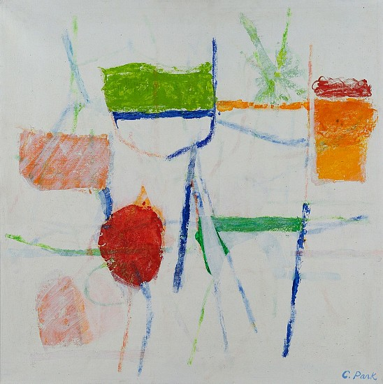 Charlotte Park ,   #2  ,  1984     Acrylic and oil crayon on canvas ,  23 x 23 in. (58.4 x 58.4 cm)     PAR-00129