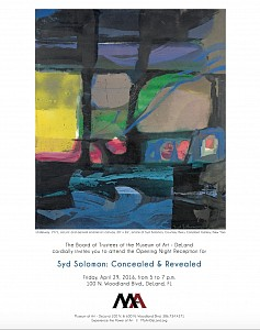 News: Press Release for Syd Solomon: Concealed and Revealed | A Traveling Museum Exhibition, April 12, 2016 - Christine Berry and Mike Solomon