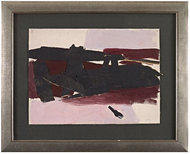 Perle Fine ,   Untitled Study  ,  c. 1952     Collage on canvas ,  9 1/2 x 13 in. (24.1 x 33 cm)     © AE Artworks     FIN-00033