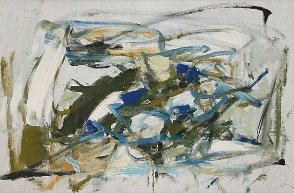 Joan Mitchell ,   Untitled | SOLD  ,  c. 1957     Oil on canvas ,  14 3/8 x 21 7/8 in. (36.5 x 55.6 cm)     SOLD © Joan Mitchell Foundation     MIT-00001