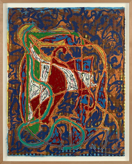 Frank Stella ,   Imola Three IV (Circuit Series) | SOLD  ,  1984     Relief-printed etching and woodcut in colors on Tyler Graphics Ltd. handmade paper ,  65 x 52 in. (165.1 x 132.1 cm)     Edition 26/30     STE-00001
