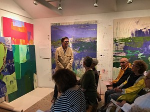 News: Eric Dever Hosts the Friends of Guild Hall at his Water Mill Studio, August 17, 2018 - Berry Campbell