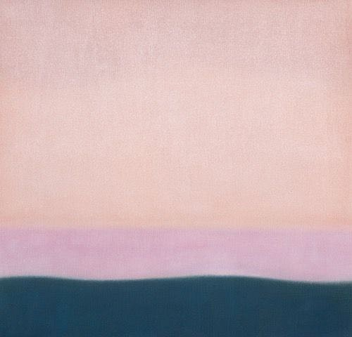 Susan Vecsey ,   Untitled (Coral/Pink)  ,  2020     Oil on linen ,  40 x 42 in. (101.6 x 106.7 cm)     VEC-00210