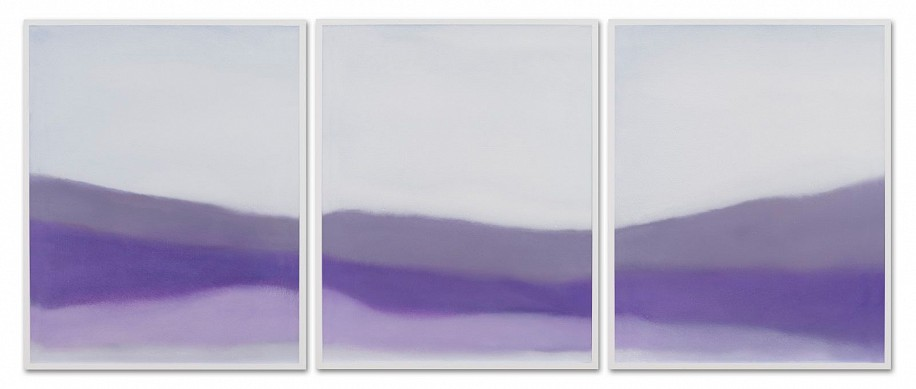 Susan Vecsey ,   Untitled (White / Lavender)  ,  2019     Oil on paper ,  40 x 96 in. (101.6 x 243.8 cm)     VEC-00201