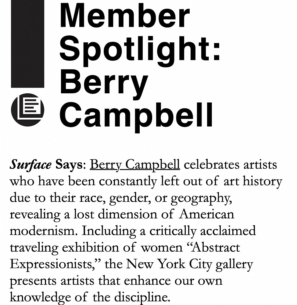 News | Berry Campbell Gallery